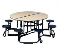 KI Uniframe UFRD58 60 inch Round Stool Cafeteria Table