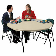 KI Duralite DLR72 Lightweight 72 inches Round Folding Table