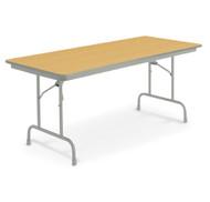 KI Heritage WH6A Adjustable Height Folding Table 36 x 72