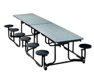 KI Uniframe UF126 Rectangular Stool Cafeteria Table 30 x 139