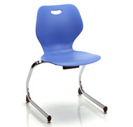 """KI Intellect Wave IWC18 Cantilevered Chair 18"""" Seat Height"""
