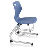 "KI Intellect Wave IWC18BR Cantilevered Chair with Book Rack 18"" Seat Height"