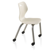 "KI Intellect Wave IW418CBR Large Chair With Casters And Book Rack 18"" Seat Height"