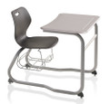 KI IWDEHBR Intellect Wave Double Entry Desk With Book Rack