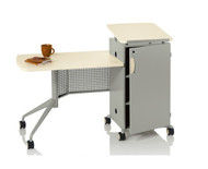KI All Terrain ATMTD2454-74P-WSL Mobile Instructor's Desk Work Surface On Left