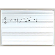 Best-Rite 202AH-S1 Porcelain Steel Markerboard with Music Line 4ft x 8ft