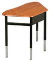 Capitol 330 Trapezoid Hard Plastic 19 x 26 Adjustable Height Desk