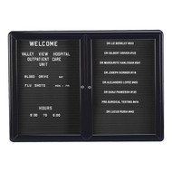 Ghent OVK2-B Two Door Ovation Letter Board