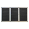 Ghent PA34872BX Outdoor Enclosed Satin Aluminum Frame Letter Board