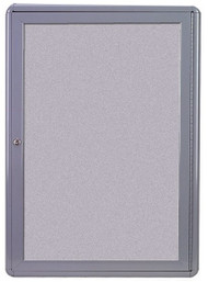 Ghent Ovation OVG1-F Gray Enclosed Fabric Tackboard