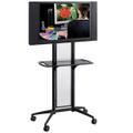 Safco 8926BL Impromptu Black Flat Panel TV Cart