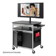 Safco 8941BL Black Flat Panel Media Cart