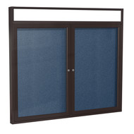 Ghent PBVLX6 Bronze Aluminum Enclosed Bulletin Board with Illuminated Headliner 36 x 60