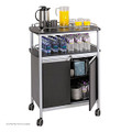Safco 8964 Steel Refreshment Center Mobile Beverage Cart