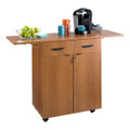Safco 8962 Wood Hospitality Service Cart Medium Oak