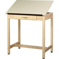 Shain DT-1A37 Drafting Table with Drawer and One Piece Adjustable Top