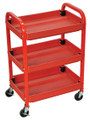 Luxor ATC332 Three Shelf Adjustable Steel and Plastic Utility Cart