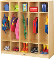 Jonti-Craft 2681JC Birch Coat Lockers with 5 Sections