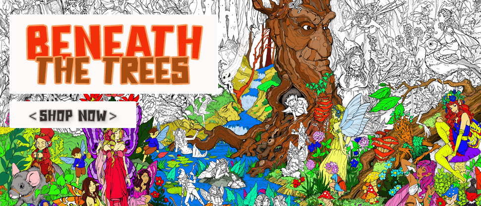 BENEATH THE TREES - Giant Poster