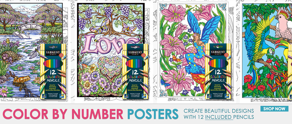 Color by Number Posters