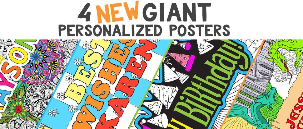 Fuzzy Velvet Posters To Color & Giant Line Art Posters | Stuff2Color