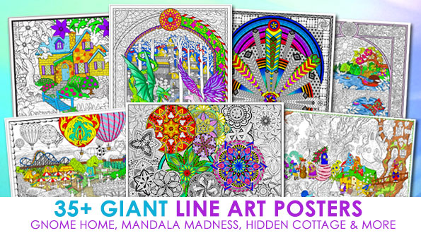 Giant Coloring Posters at Stuff2Color