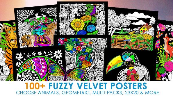 Felt, Fuzzy, Velvet, and Flocked Designs at Stuff2Color