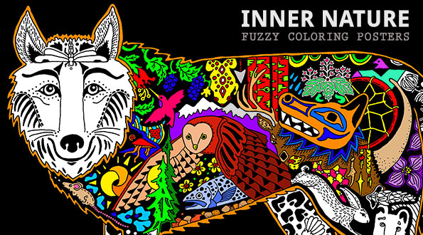 Fuzzy Inner Nature Designs at Stuff2Color