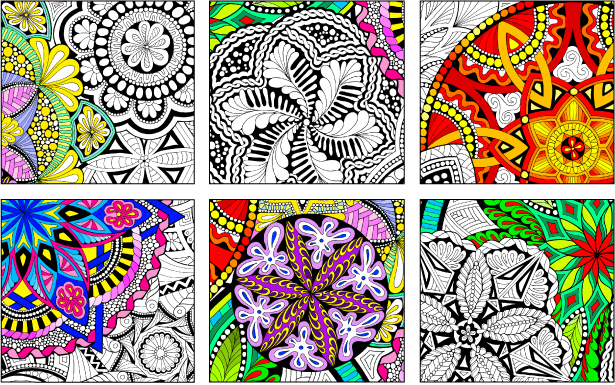 Mandala Madness - Giant Coloring Poster - Stuff2Color