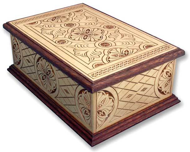 Acclaim Hand Carved Wood Cremation Box