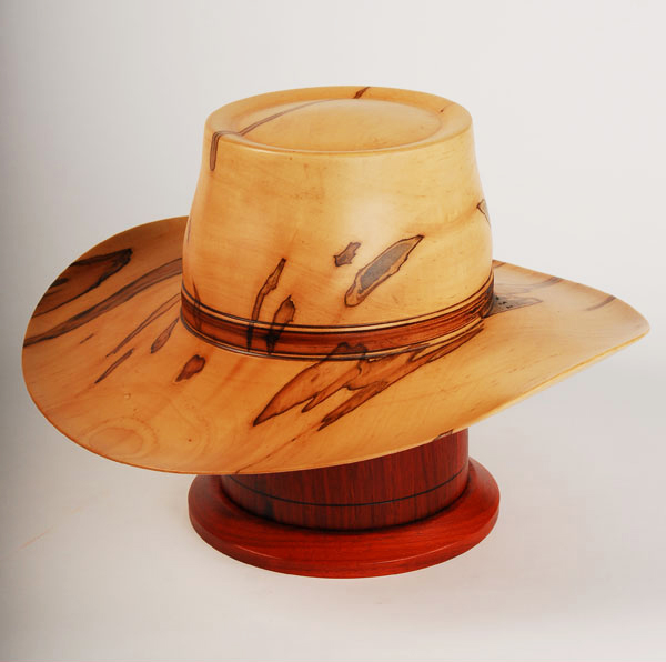 Cowboy Hat Cremation Urn Hand Turned Maple