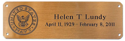 Custom Engraved Name Plate