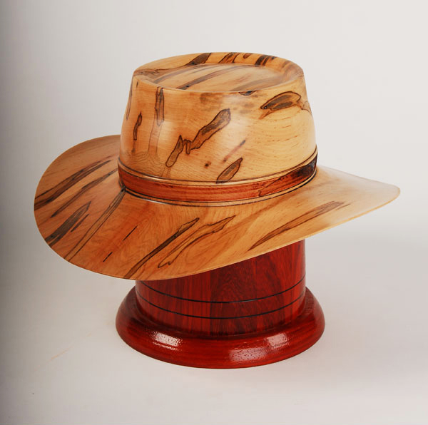 Outback Hat Cremation Urn Hand Turned Maple