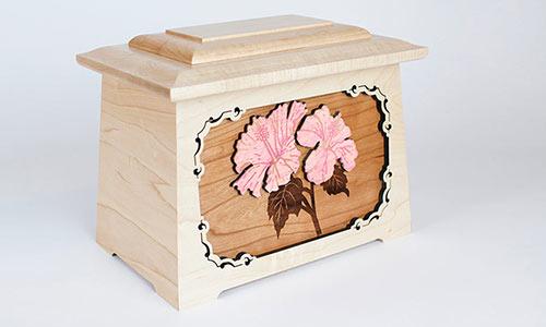 Hibiscus Flower Urn