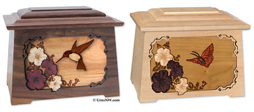 Hummingbird & Butterfly Cremation Urns