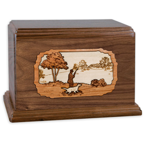 Hunting Dog Companion Urn - Walnut Wood
