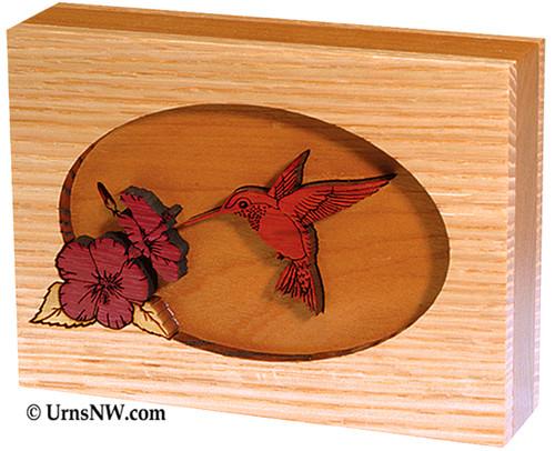 Hummingbird Dimensional Keepsake Urn