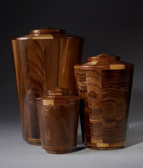 Hand Turned Walnut Cremation Urn