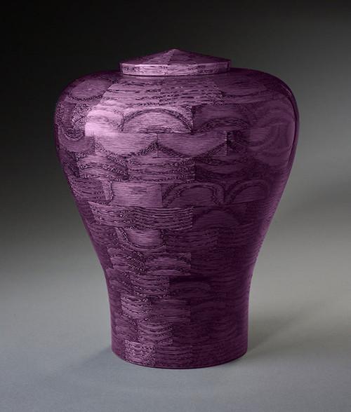 Purple Wood Cremation Urn