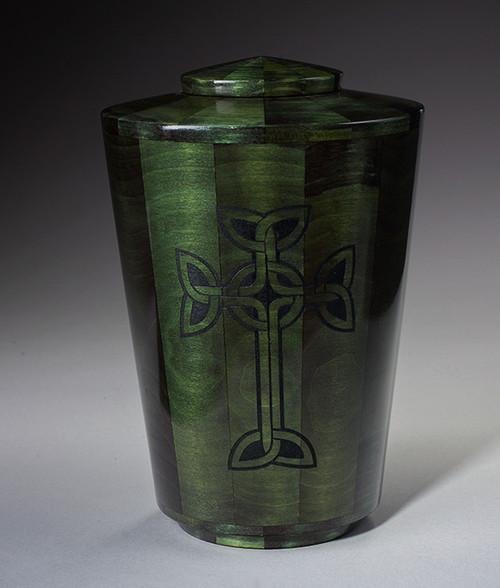 Hand Turned Celtic Cross Urn