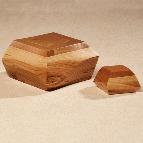 Woodsculpt Cherry Wood Cremation Urn