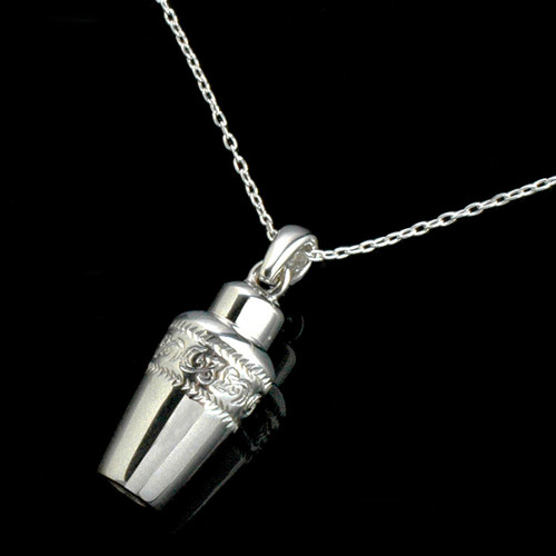 Cremation Urn Pendant Necklace in Sterling Silver