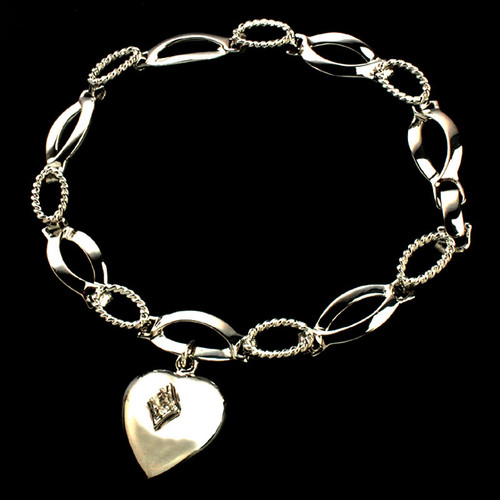 Birthstone Heart Cremation Bracelet