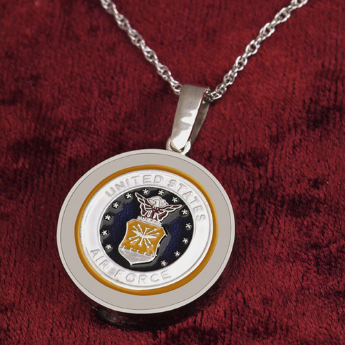 Air Force Cremation Necklace