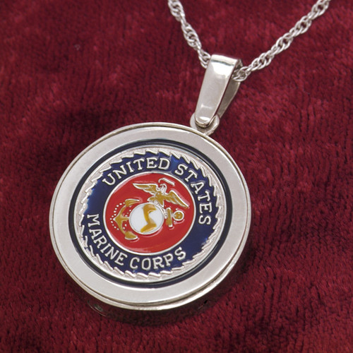 Marine Corps Cremation Necklace
