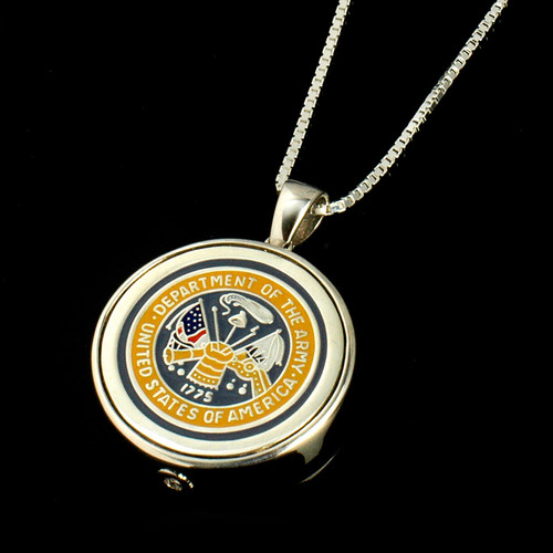 Army Cremation Jewelry Necklace