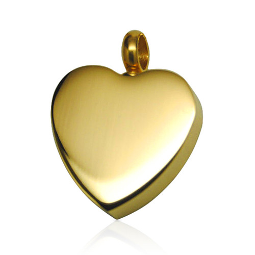 Gold Heart Cremation Necklace Pendant