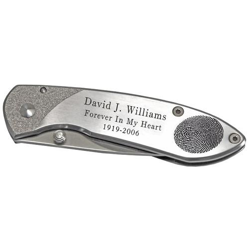 Personalized Fingerprint Memorial Pocket Knife