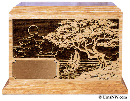 Seascape Cremation Urn