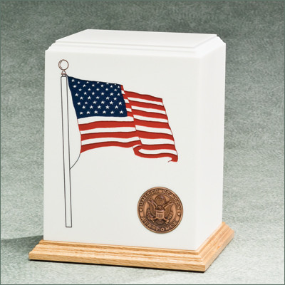 American Flag Military Cremation Urn